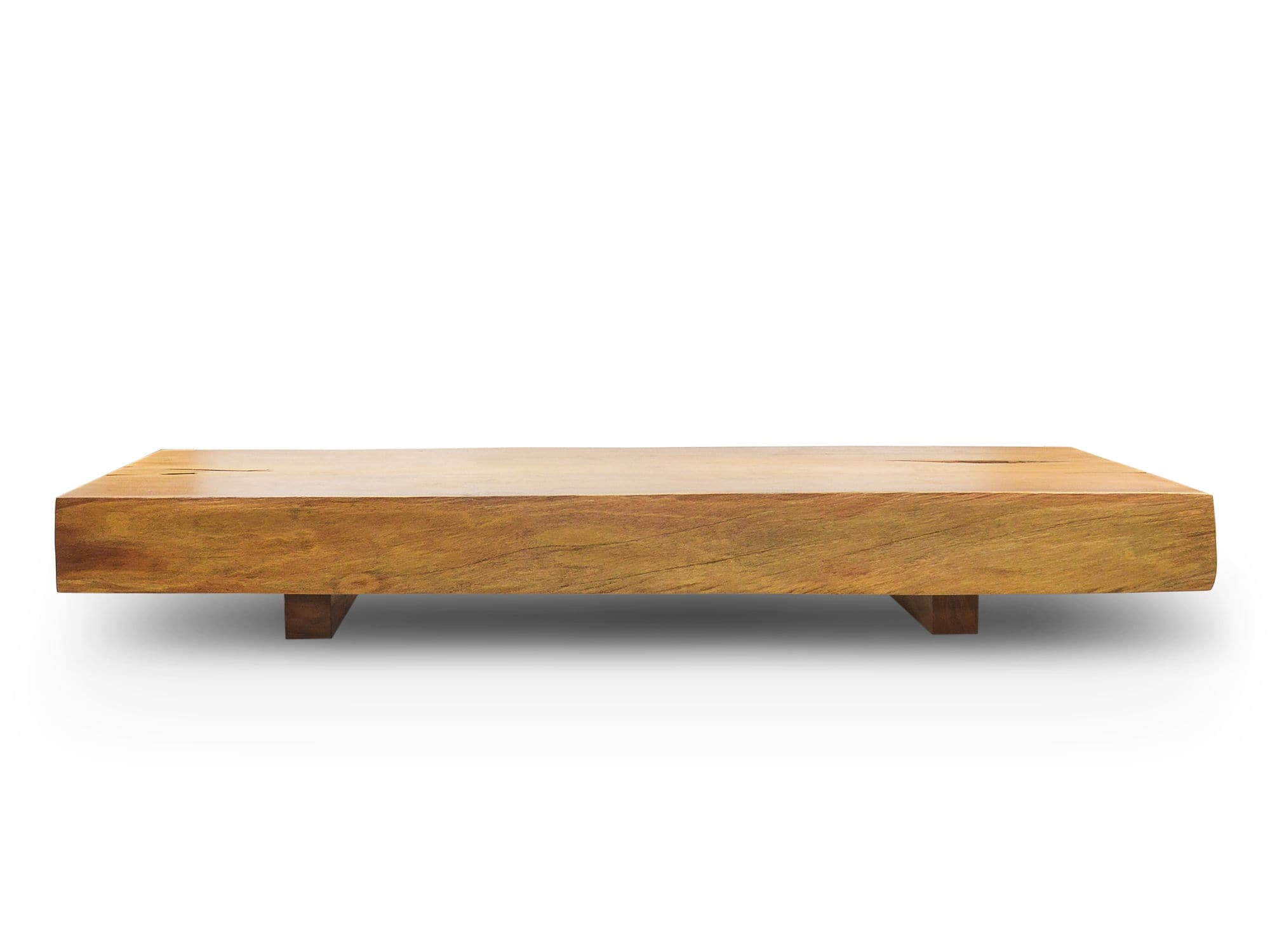 Moderner Couchtisch Massivholz Rechteckig Innenraum Organic