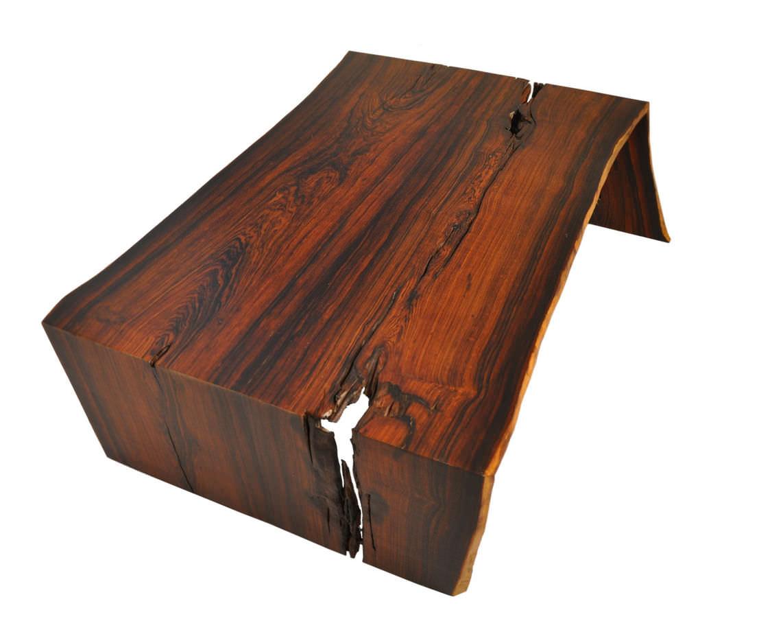 Moderner Couchtisch Holz Rechteckig Innenraum RAW EDGE COCOBOLO Rotsen Furniture