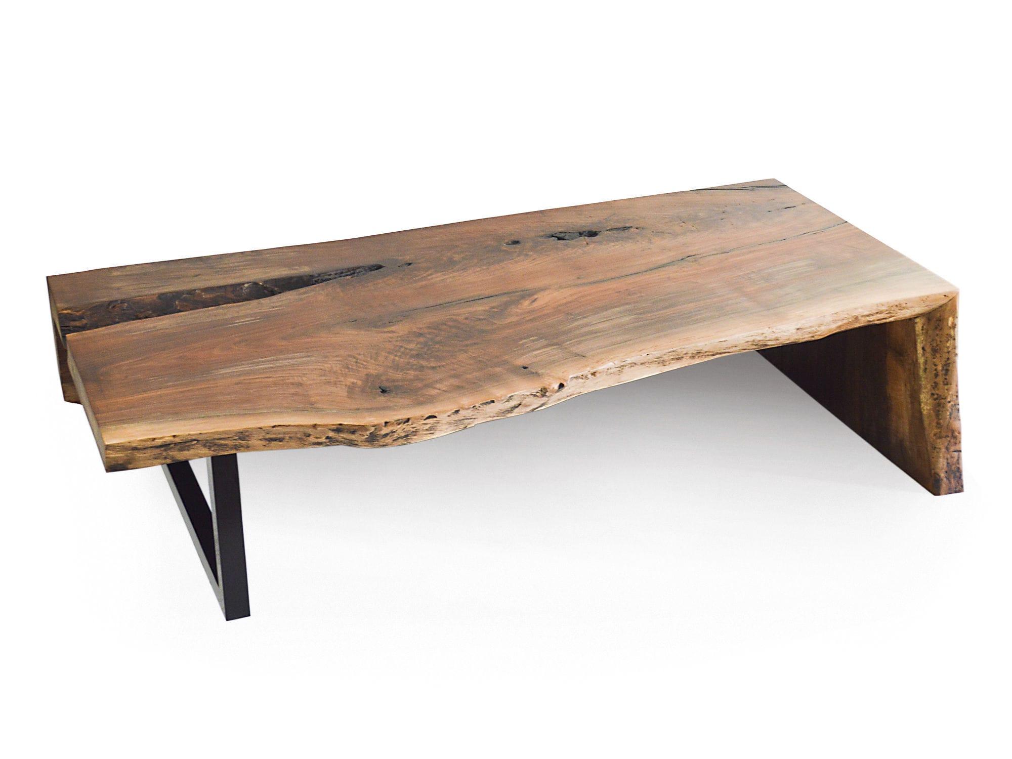Moderner Couchtisch Holz Metall Rechteckig Walnut Rotsen