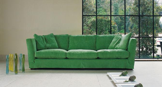 Modernes Sofa Stoff 3 Platze Grun Hyde Park Machalke