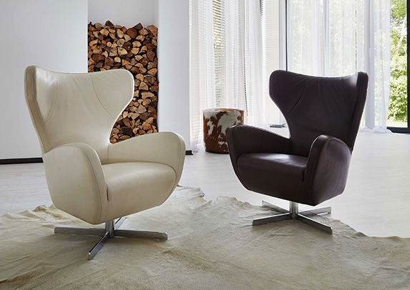 Ohrensessel leder modern  Moderner Sessel / Leder / drehbar / sternförmiger Fuß - GOLF ...