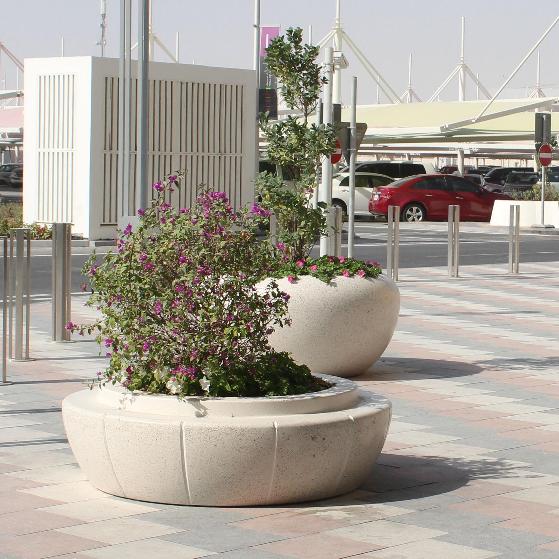 beton-pflanzkübel / aus naturstein / aus marmor / aus granit - ring