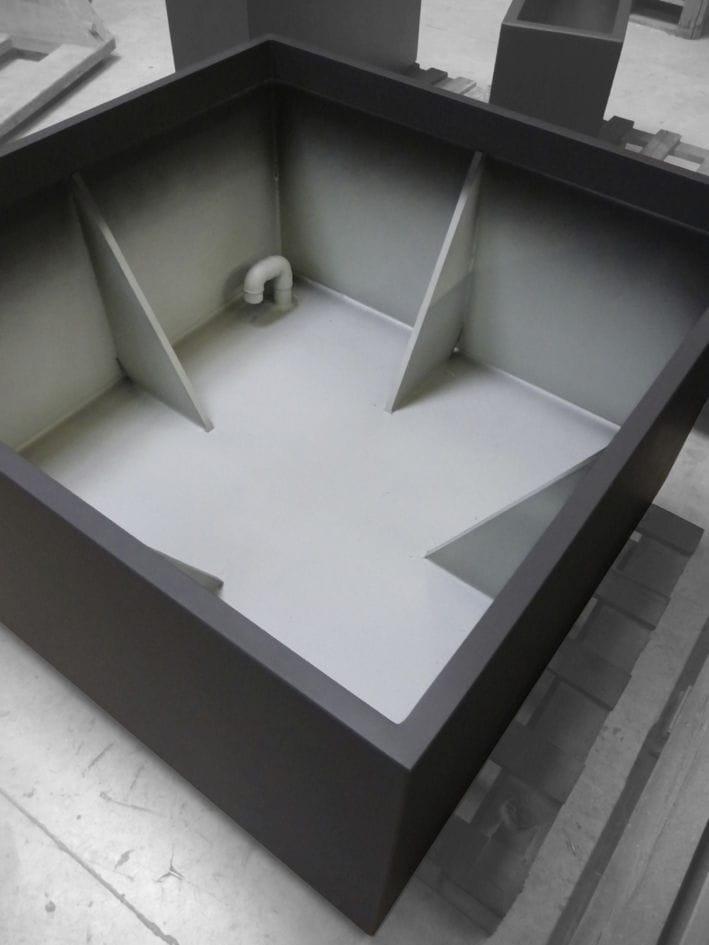 Verbundwerkstoff-Pflanzkübel / quadratisch / rechteckig / nach Maß ...