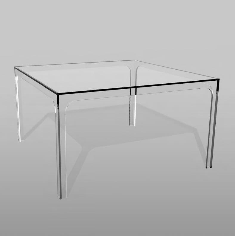 quadratischer esstisch glas