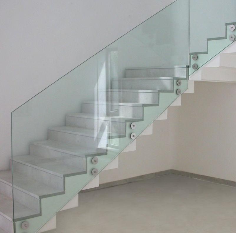 Treppen Mit Glasgeländer glasgeländer mit stangen innenraum für treppen parapetti