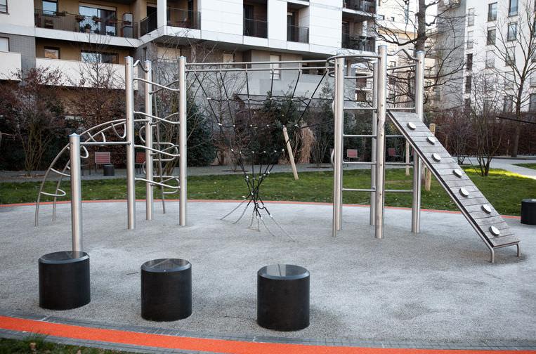 Klettergerüst Outdoor Metall : Klettergerüst für spielplätze kaiser & kÜhne : combinaison 55480