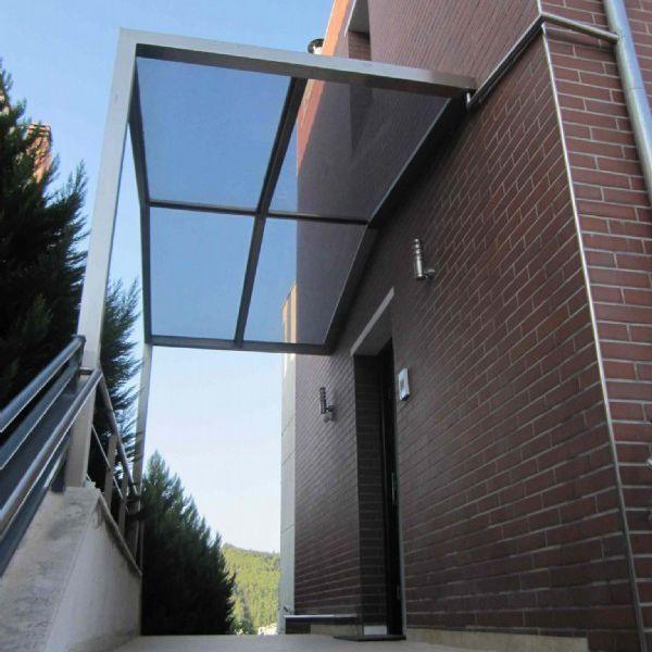 Eingang Vordach Glas Edelstahl Fertig Pure Inox