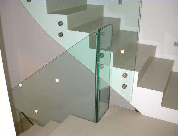 Treppen Mit Glasgeländer glasgeländer platten innenraum für treppen inox