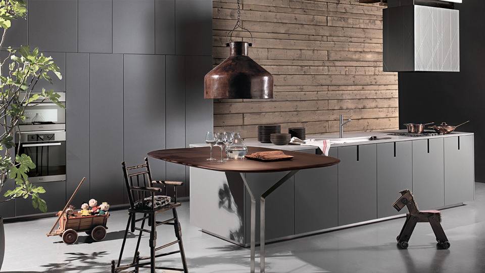 Moderne Küche / Holz / Laminat / Edelstahl - HD23 by Massimo ...
