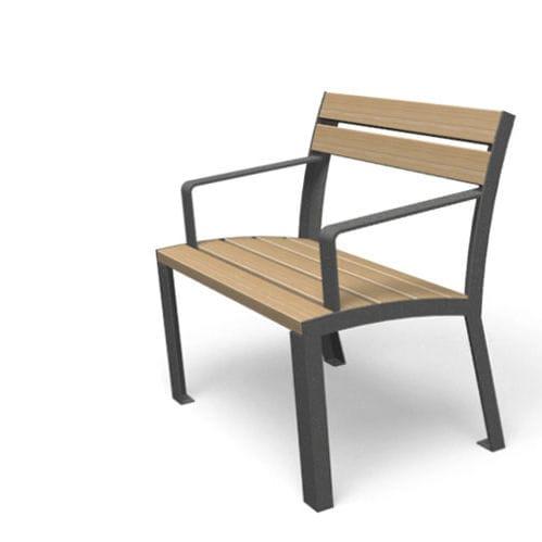 Moderner Sessel Holz Metall Mit Armlehnen La Strada Miramondo