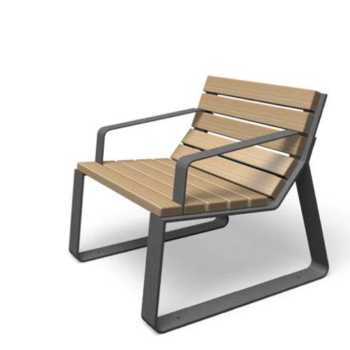 Moderner Gartenstuhl / Mit Armlehnen / 100% Recycelbar / Metall   MAYFIELD