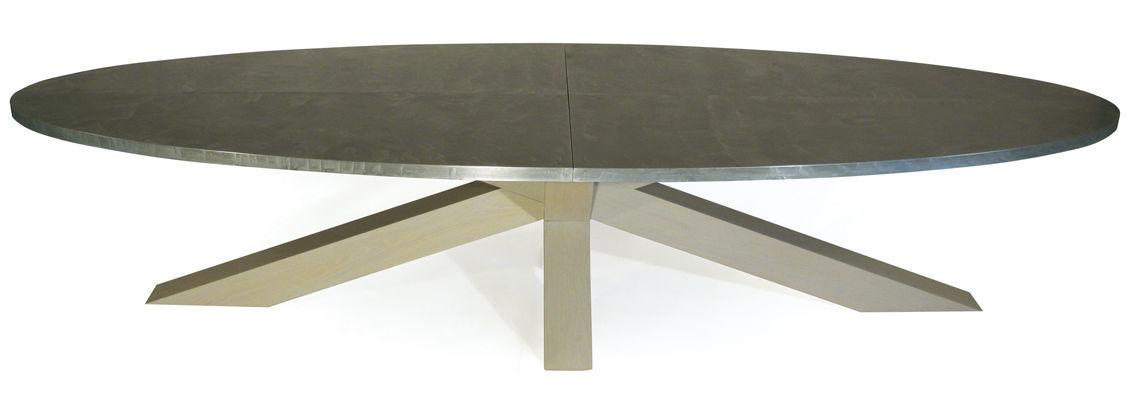 moderne esstisch / aus eiche / zink / für innenbereich, Esszimmer dekoo