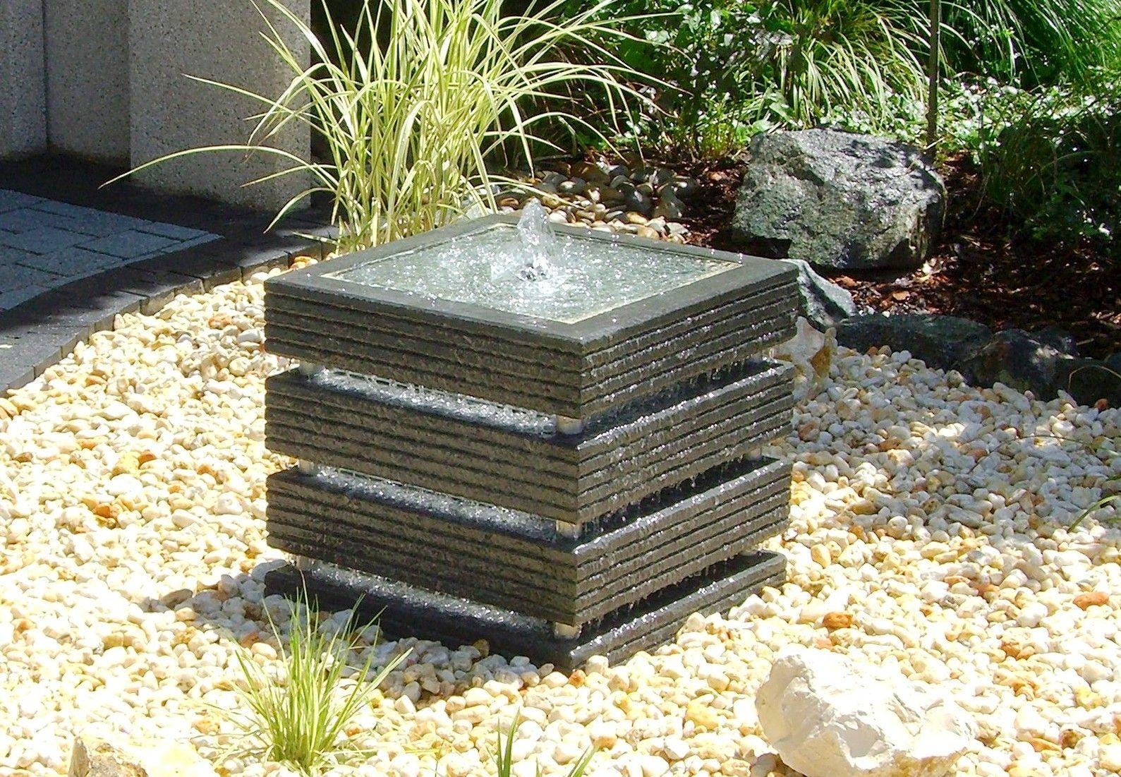 garten-springbrunnen / modern - kreativ-quader - slink - ideen mit, Garten und bauen