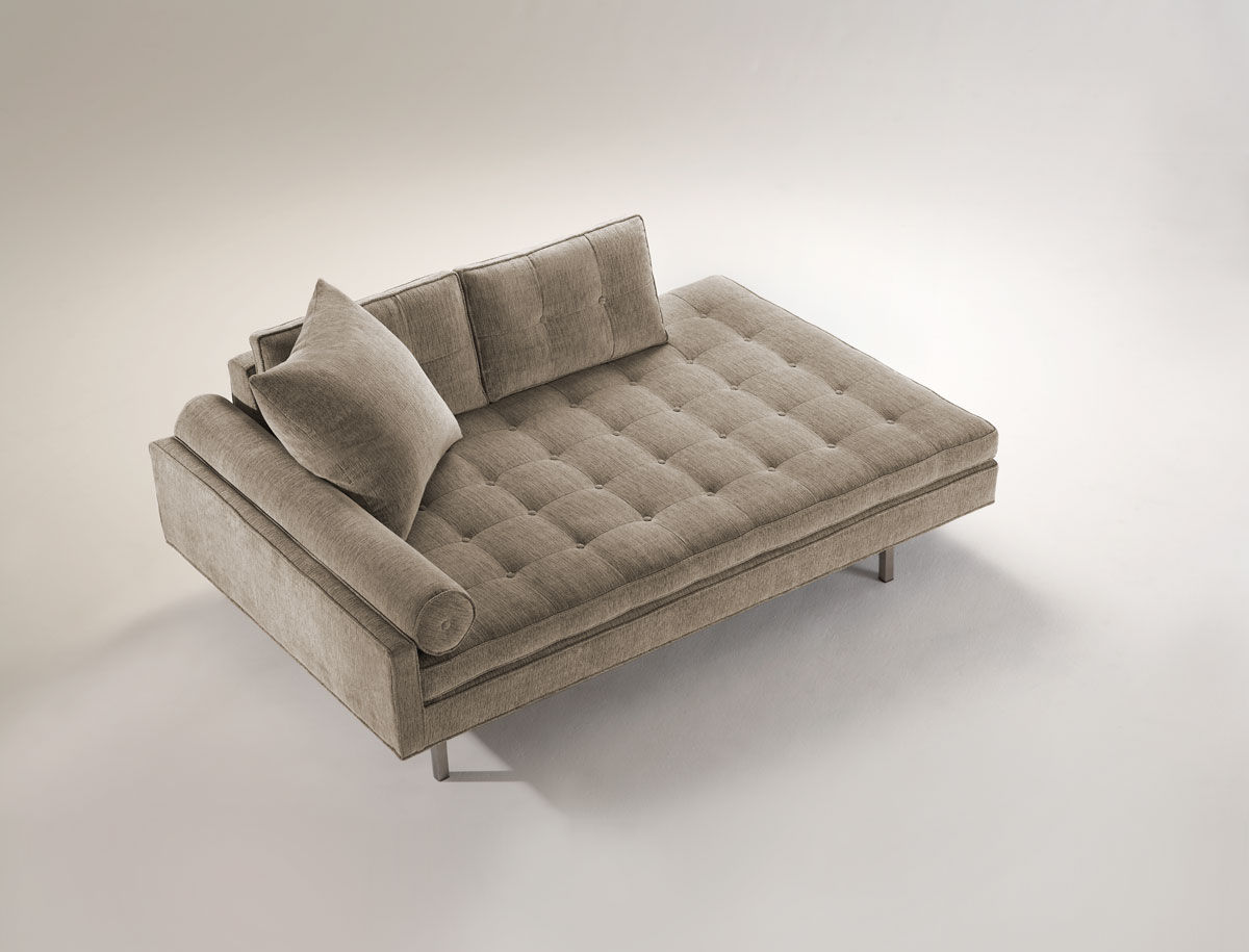 Moderne récamiere stoff chicago lounge double back vioski
