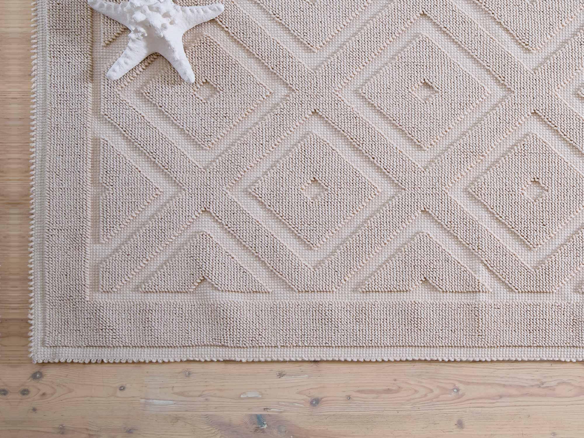 Moderner Teppich / Motiv / Wolle / rechteckig - ROMBI - MASTRO RAPHAËL