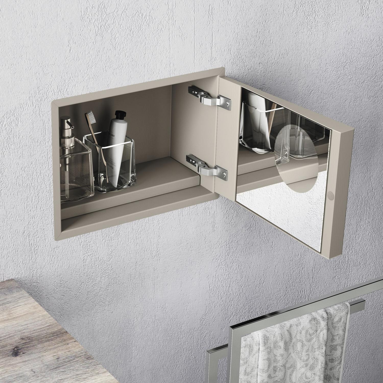 Moderner Badezimmer Schrank Edelstahl Wandmontiert Hoch My