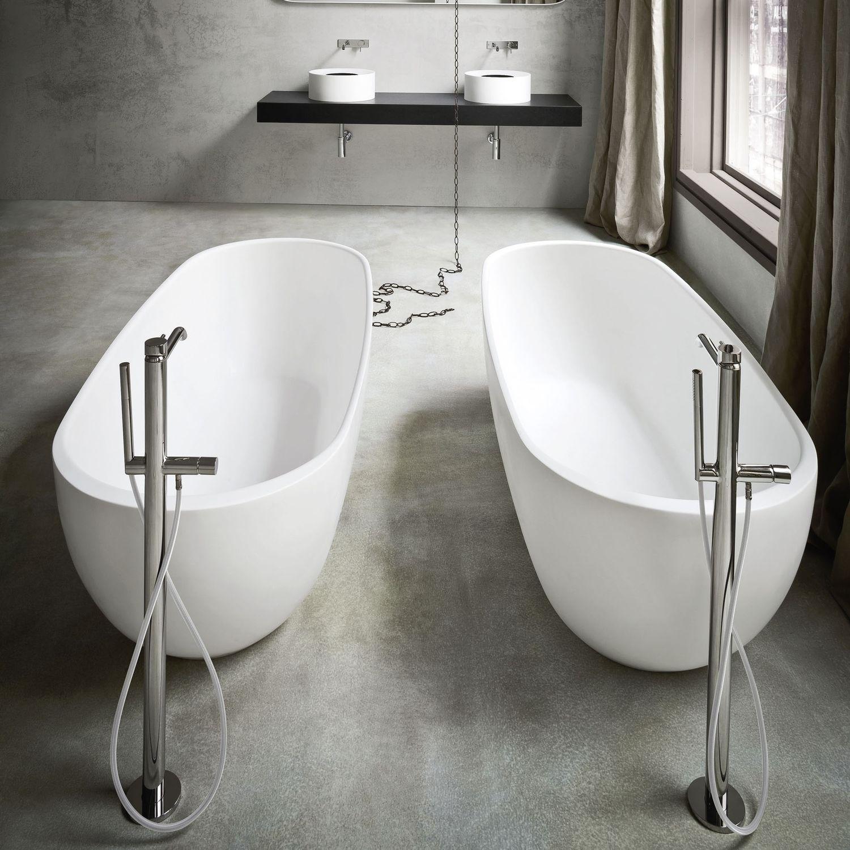 Freistehende Badewanne / Oval / Verbundwerkstoff ...