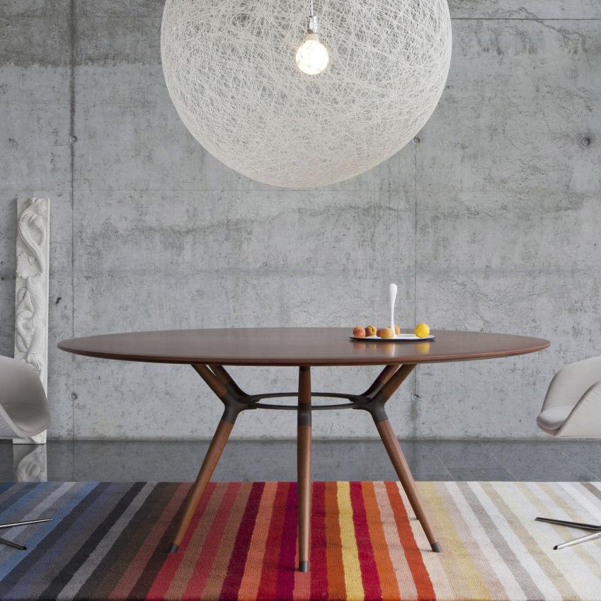 Moderner Tisch / Holz / Stahl / Rechteckig   X2