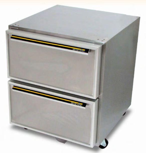 Kühlschrank Für Professionellen Gebrauch / Unterbau / Doppeltüren /  Edelstahl   SKR27AD
