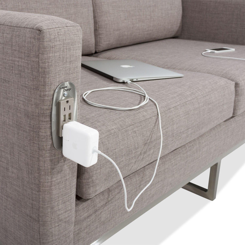 Modernes Sofa / Stoff / Gewerbe / 2 Plätze - SIMPLE CHARGE LOVESEAT ...