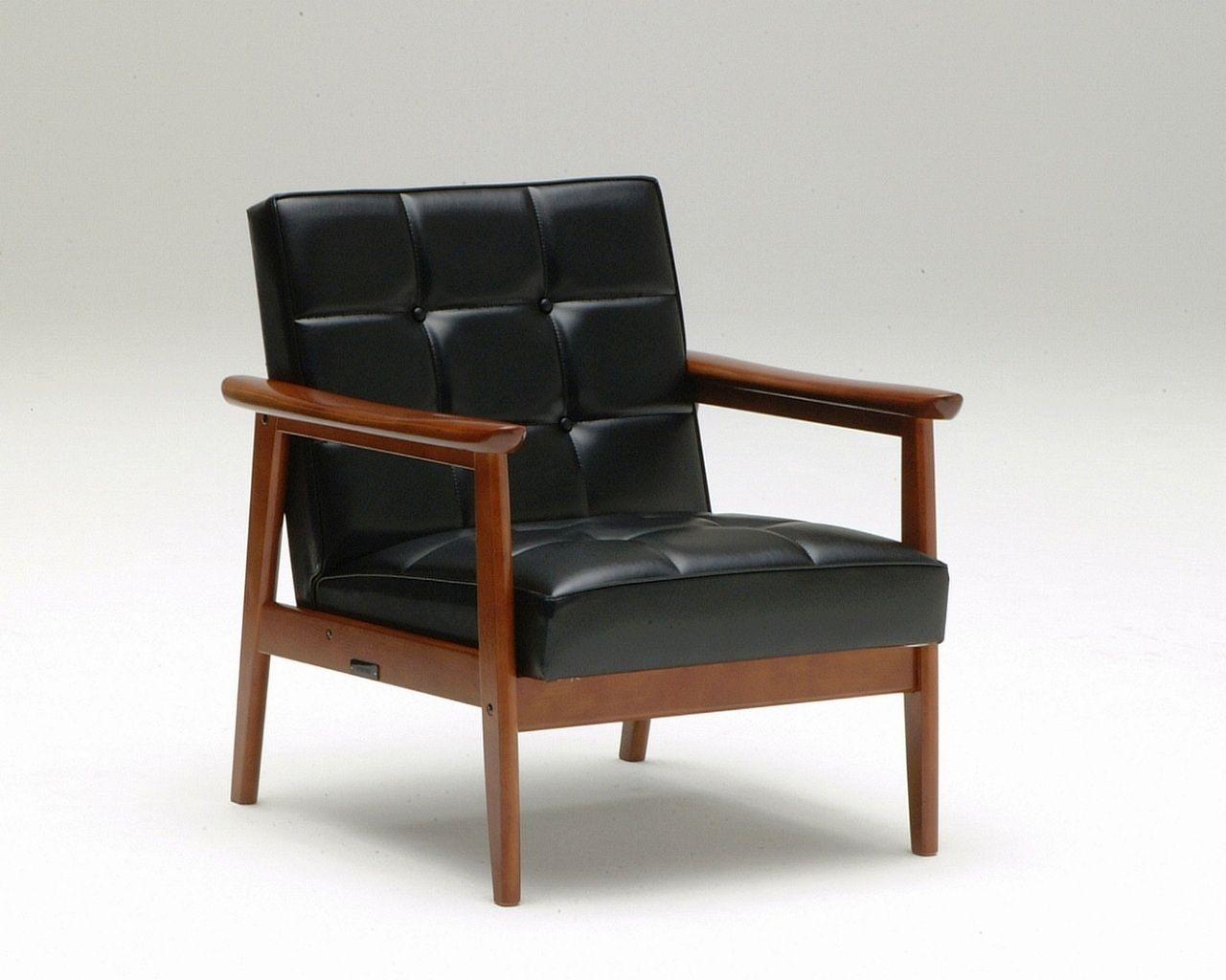 Klassischer Sessel Holz Leder Grun K Karimoku