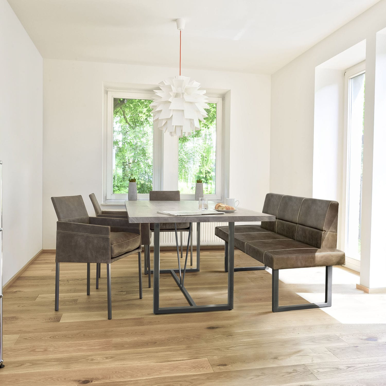 Moderner Esstisch / Massivholz / Stahl / rechteckig - ORIGIN - KFF