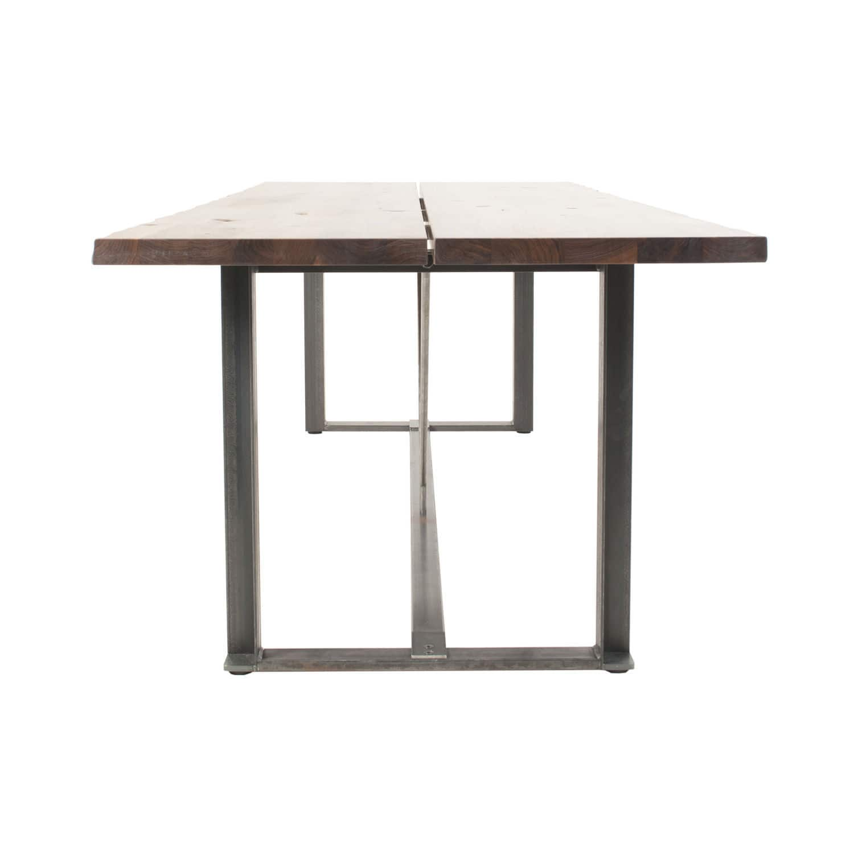 moderner esstisch / holz / stahl / rechteckig - artus - kff - Moderner Esstisch Holz Stahl