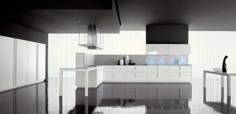 Moderne Küche / Holz / lackiert / Hochglanz - LINE - Zampieri Cucine