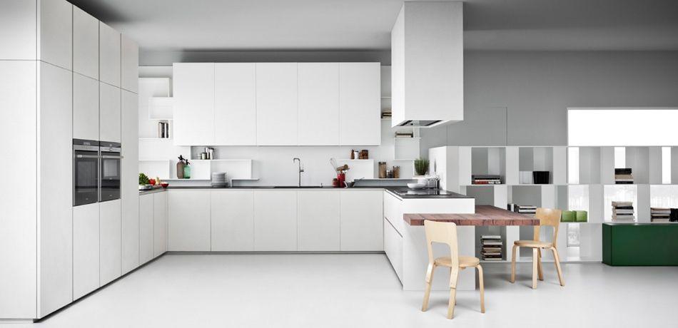 Moderne Küche / Holz / lackiert / matt - LINE K - Zampieri Cucine