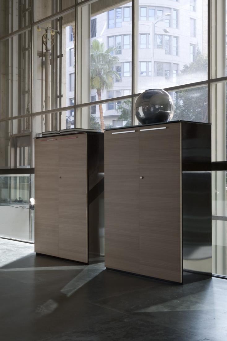 Aktenschrank holz niedrig  Niedriger Aktenschrank / Holz - URBANA by Estelles Design - Ofifran