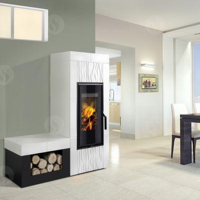 Holz-kaminofen / Modern / Aus Keramik - Aline - Romotop Kaminofen Modernes Design