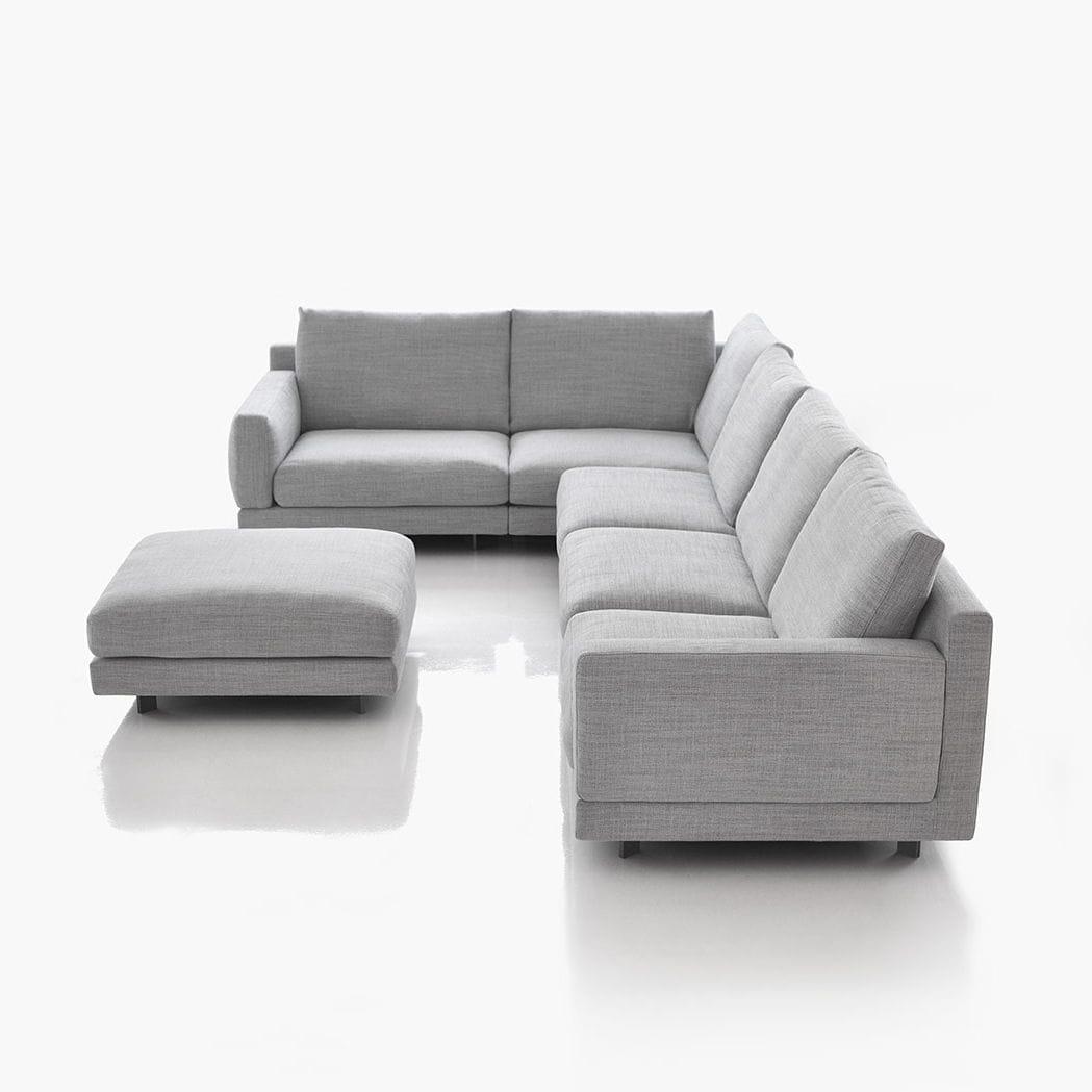 Modulierbares Sofa / modern / Stoff / 5 Plätze - ELLE - BENSEN