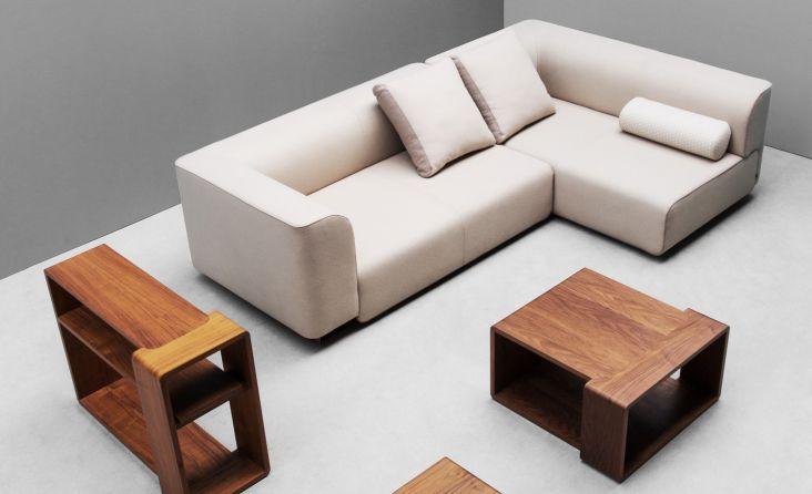 Sofa modern braun  Modulierbares Sofa / modern / Stoffbezug / braun - BLOC by Piotr ...