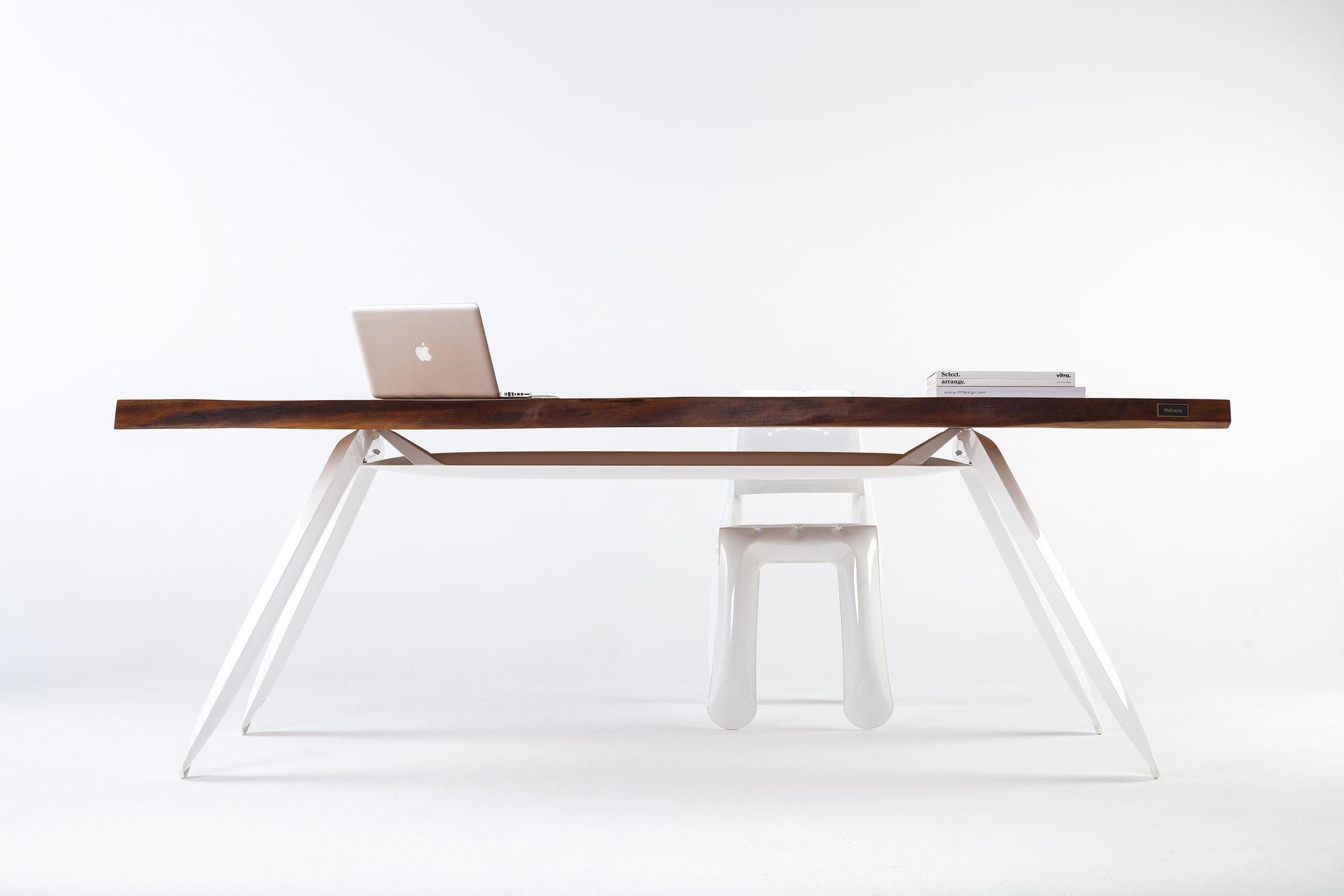moderner tisch / holz / stahl / rechteckig - kauri - zieta - Moderner Esstisch Holz Stahl