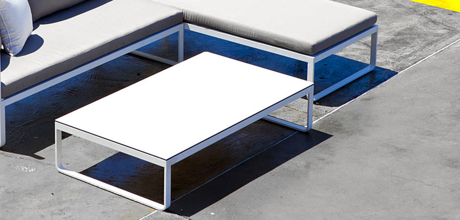 Moderner Couchtisch Hpl Aluminium Rechteckig Clovelly