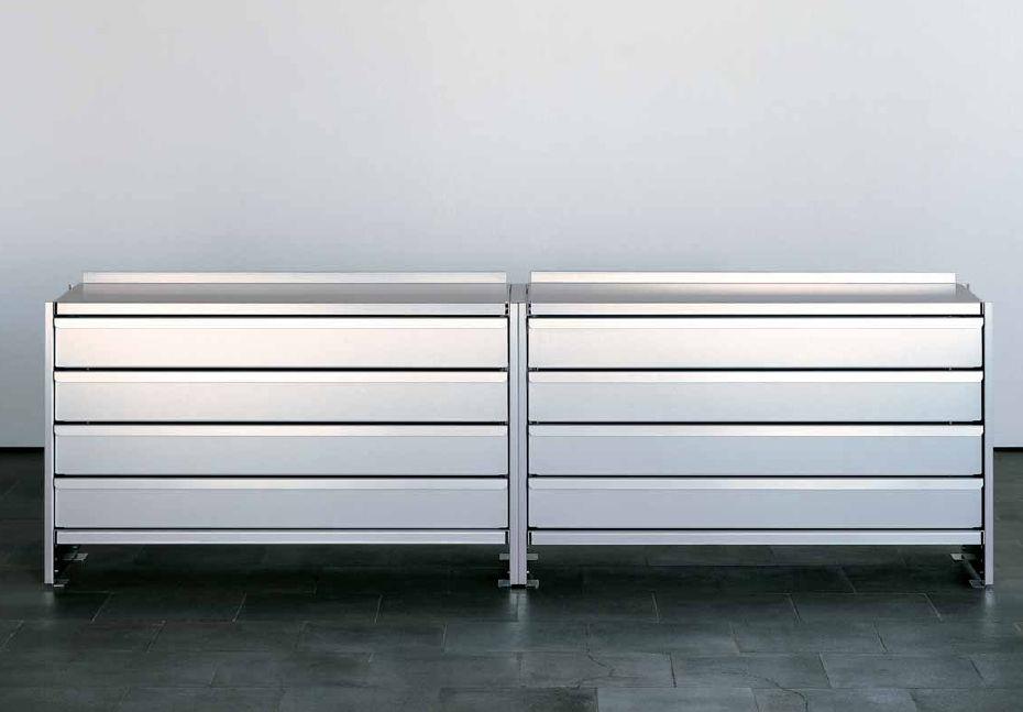 Niedriger Aktenschrank / Metall / modern - by Andreas Christen - Lehni