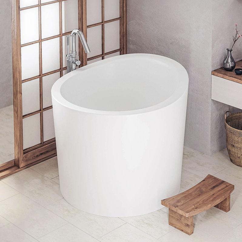 Freistehende badewanne rund  Freistehende Badewanne / rund / Mineralwerkstoff / tiefe - TRUE ...