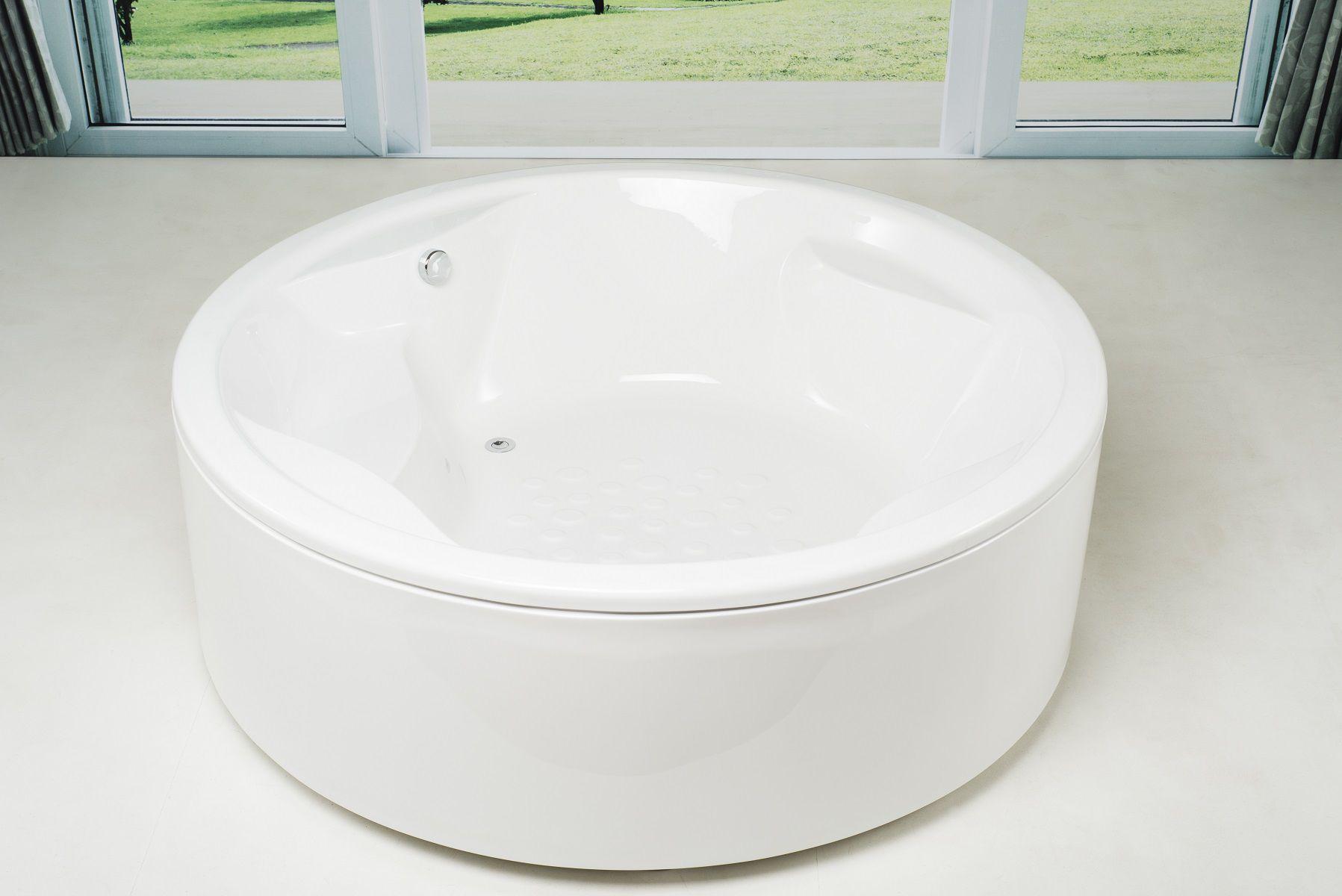 Freistehende Badewanne / rund / aus Acryl / tiefe - ALLEGRA-WHT ... | {Freistehende badewanne rund 49}