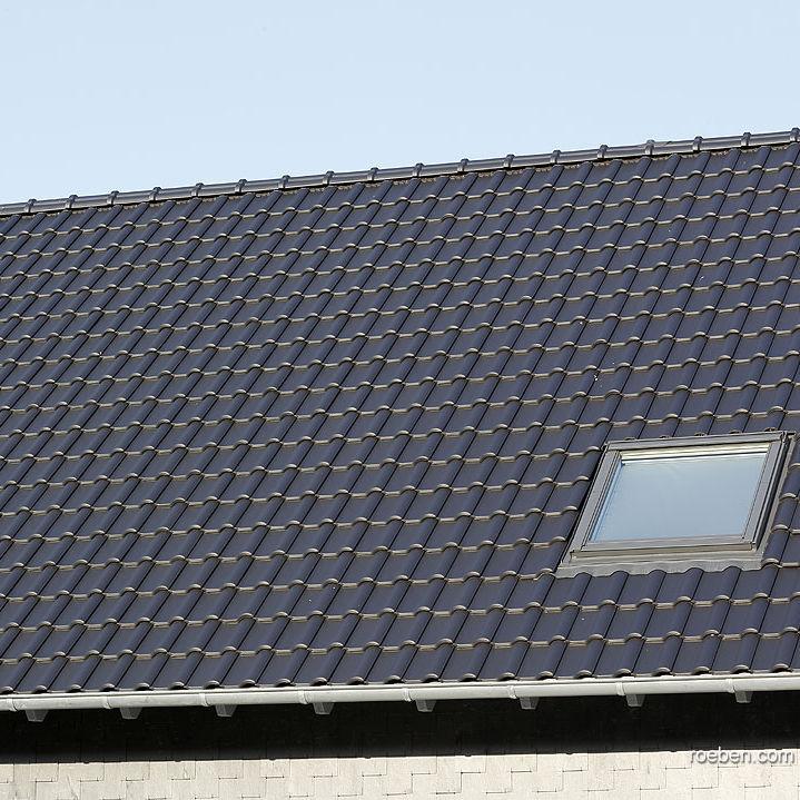 Dachziegel schwarz  Pfanne-Dachziegel / Klinker / schwarz / braun - BARI - Röben