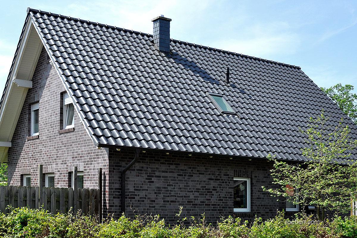 Schwarzer Klinker pfanne dachziegel klinker rot schwarz limburg röben