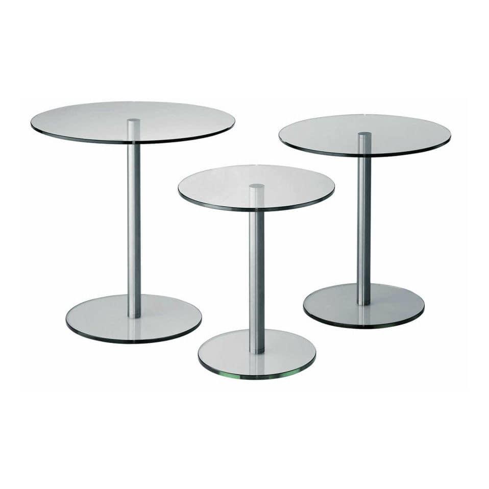 Beistelltisch glas rund  Moderner Beistelltisch / Glas / rund - CIRCLE OCCASIONAL by Paul ...