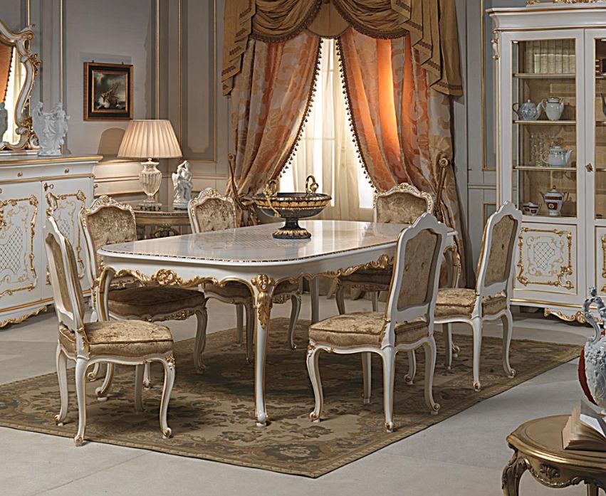Tisch / Louis XVI. Stil / gestrichenes Holz / oval - VENICE ...