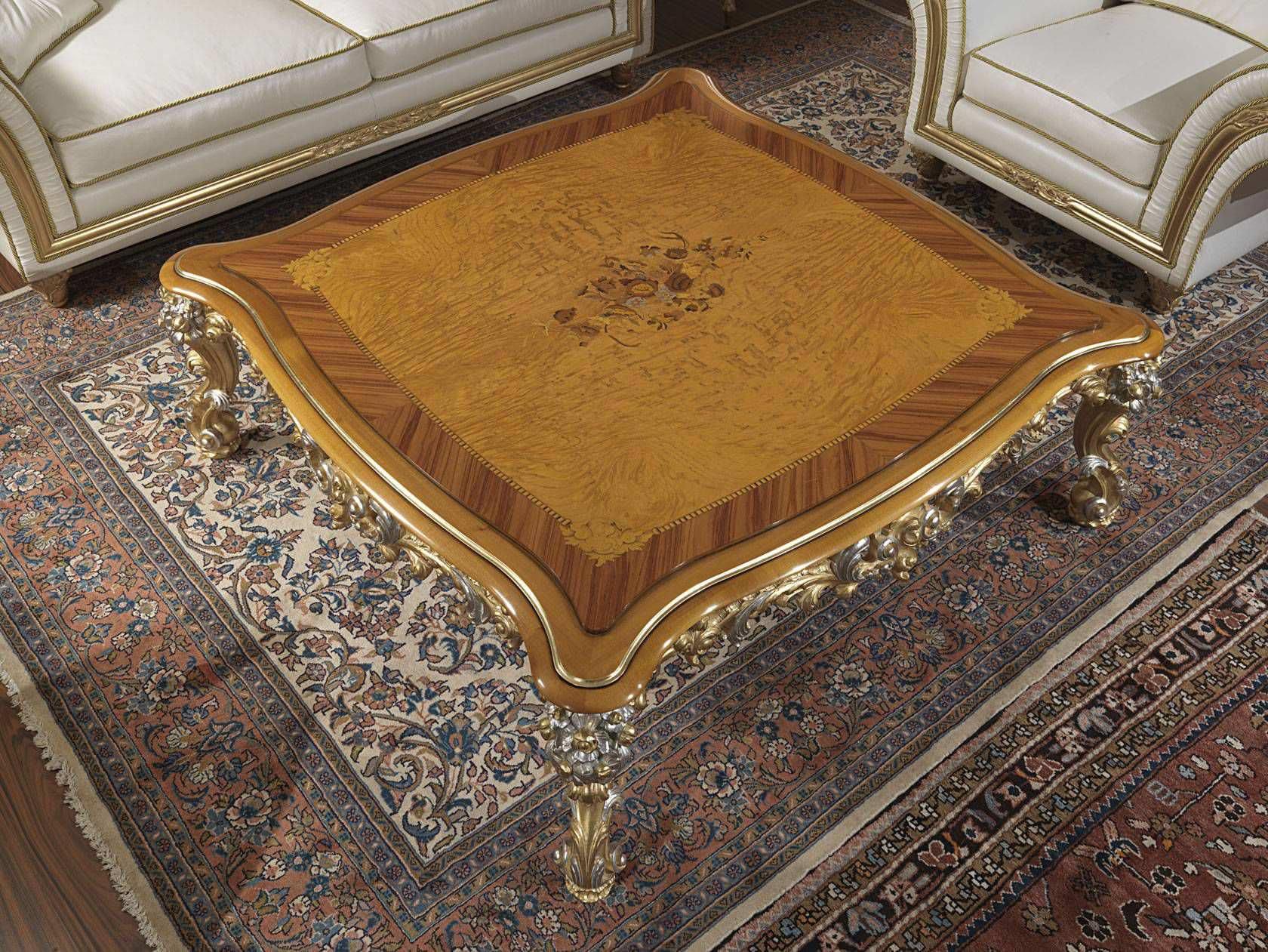 Stil Couchtisch Leder Quadratisch Innenraum Imperial