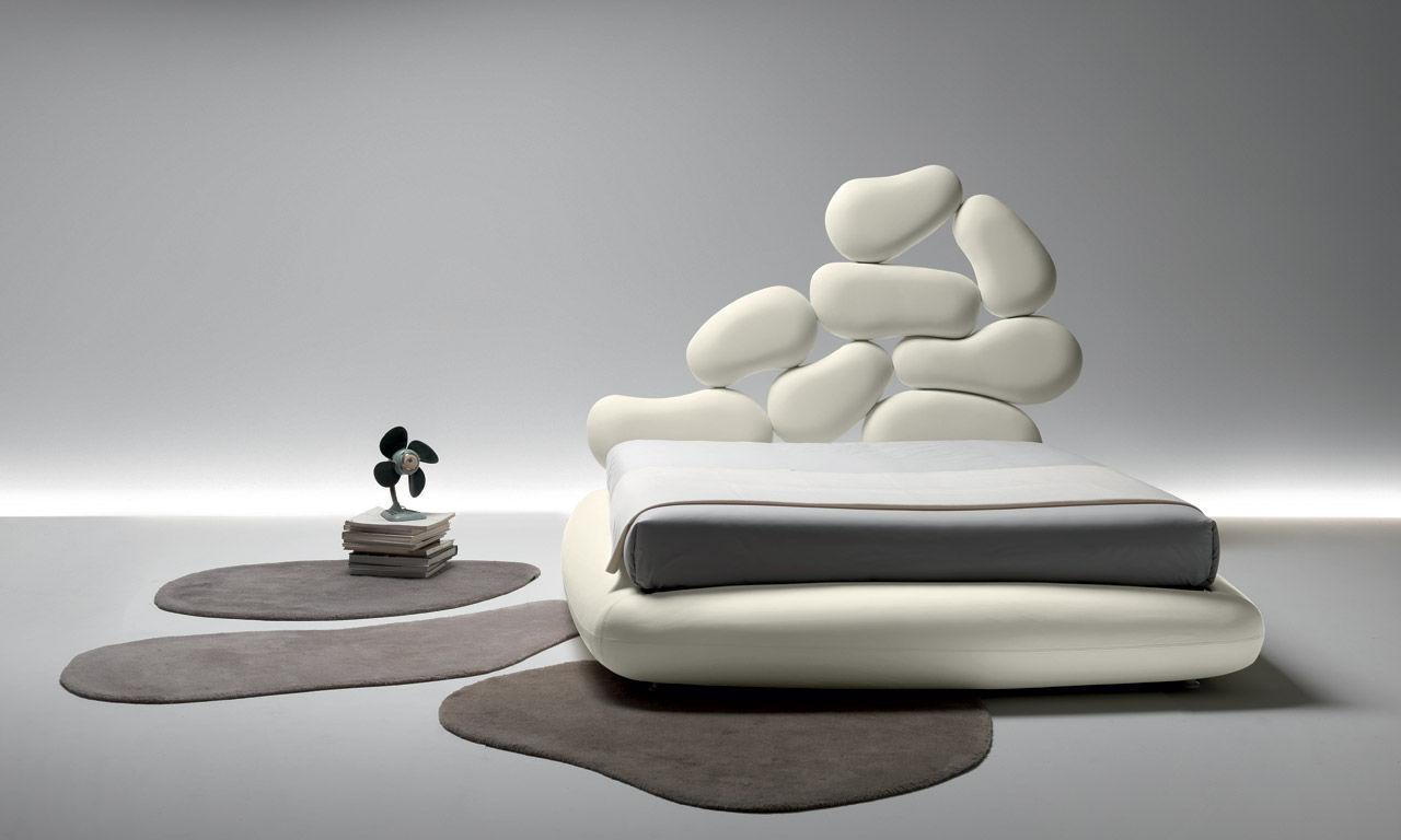 Doppelbett / standard / originelles design / leder   stones   noctis