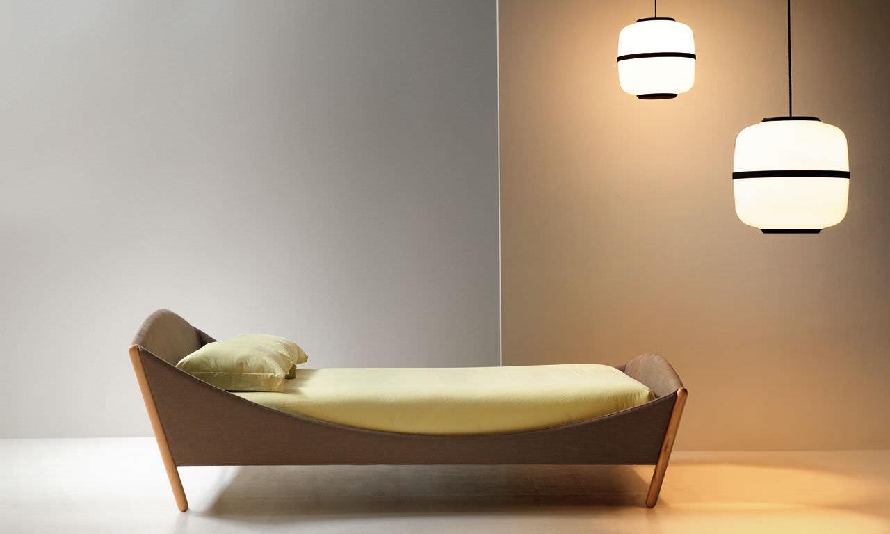 Einzelbett modern  Standardbett / Einzel / modern / Stoff - LULLABY - noctis