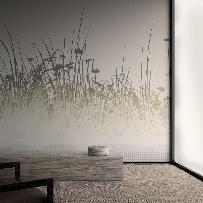 Moderne Tapeten / Vinyl / Blumenmuster / Mit Naturmotiv   TOURBILLON
