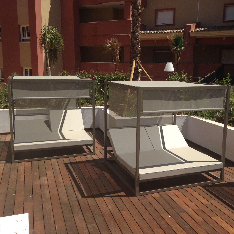 moderne sonnenliege / sunbrella® / aluminium / für den garten - bali