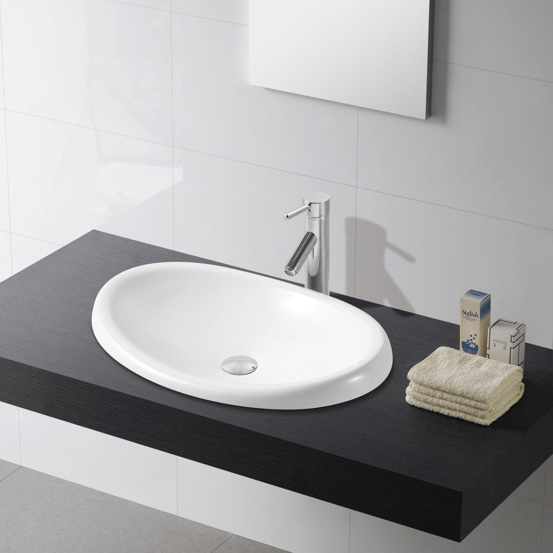 Einbauwaschbecken Oval Aus Porzellan Modern Ellipse Bath