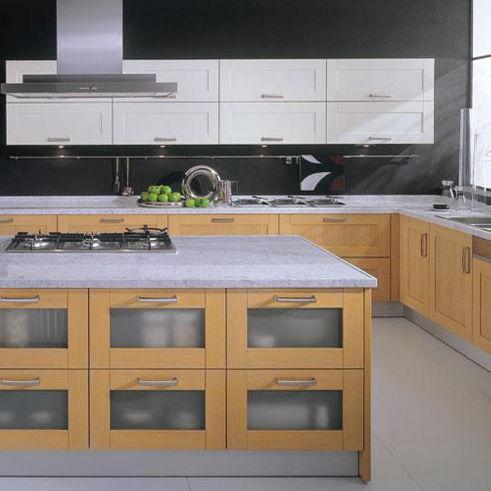 Moderne Küche Holz Kochinsel Mit Griffen Diva Lineadecor