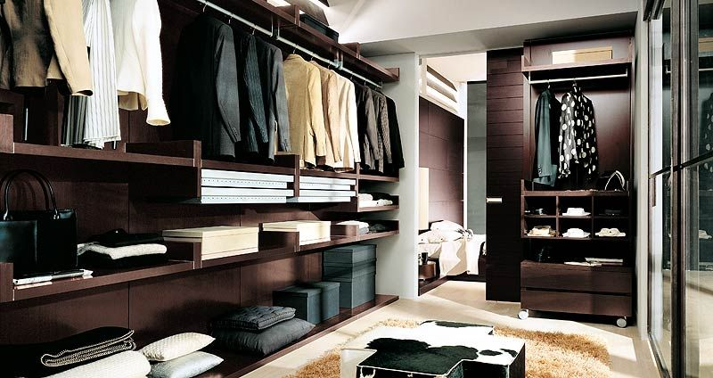 Moderner Begehbarer -Kleiderschrank / Holz - SPAZIO CAB - Homes